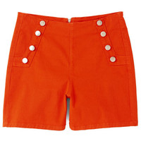 ModCloth Nautical High Waist Sailorette the Seas Shorts in Red