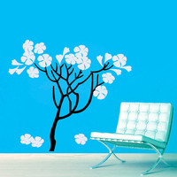 Wall Decals Trees Flowers Blossom Bloom Tree Vinyl Decal Sticker Home Decor Room Bedroom Kitchen Nursery Living Room  Murals ML49