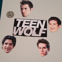 Set of Five Teen Wolf Stickers