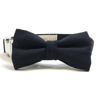Dog Collar - Collar and Bow Tie - Black Collar and Bow - Black Dog Collar - Black Tie Affair - Basic Dog Collar - Bow Tie and Collar