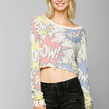 Coincidence & Chance Comic Cropped Sweater - Urban Outfitters