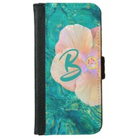 Hibiscus flower iphone wallet