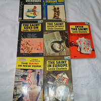 7x The Saint vintage paperback books/ Leslie Charteris/ 1960s/ Pan Books/ fathers day ships worldwide