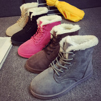 Christmas Gift Idea for Girlfriend Wife Winter Warm Snow Boots