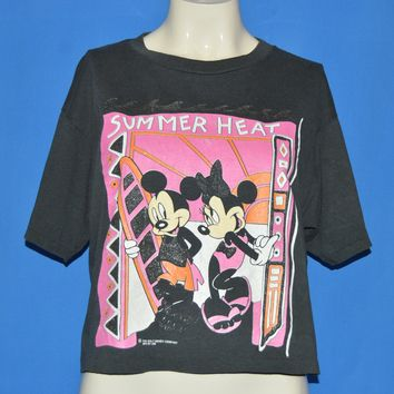 90s Summer Heat Mickey & Minnie Crop Top t-shirt Large