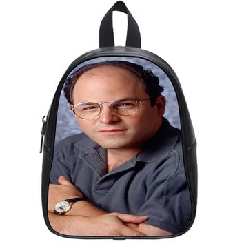 George Costanza Portrait Iphone 6 School Backpack Large