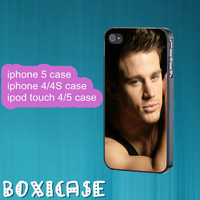 Channing Tatum---iphone 4 case,iphone 5 case,ipod touch 4 case,ipod touch 5 case,in plastic,silicone and  black , white.