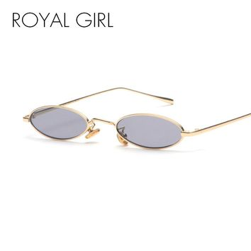 ROYAL GIRL Vintage Small Round Sunglasses Women Men Brand Design Small Oval Metal Frame Ladies Glasses oculos uv400 ss590