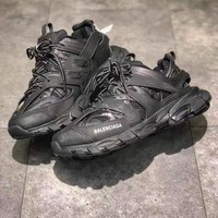 Balenciaga Track Trainers In Black Mesh And Nylon Sports Sneakers Shoes
