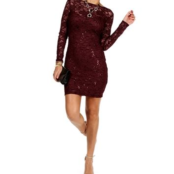 Mack-Burgundy Homecoming Dress