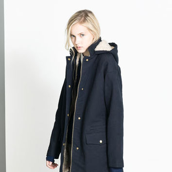 SHEEPSKIN LINED PARKA - Trf - Coats - Woman | ZARA United States