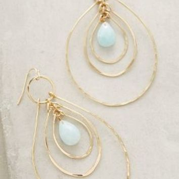 Rippling Hoops by Anthropologie in Gold Size: One Size Earrings