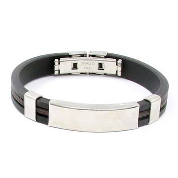 Mens Fashion Stainless Steel Cuff Bracelet