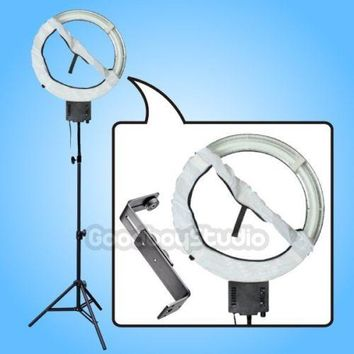 Studio 40W 5400K Diva Ring Lamp with 90cm Tripod Stand + Diffuser+ Camera Bracket fr Photography Camera Phone Video Photo Selfie