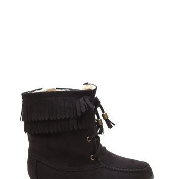 U Complete Me Faux Suede Moccasin Boots
