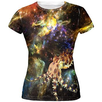 Blue Ringed Octopus IN SPACE All Over Juniors T-Shirt