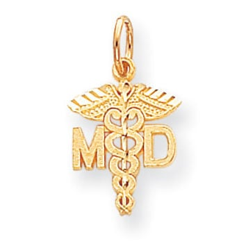 10k Solid Doctor of Medicine MD Charm 10C745