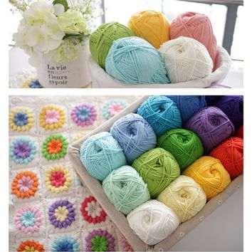 50g Super Soft Chunky Hand-woven Milk Cotton Baby Knit Wool Yarn