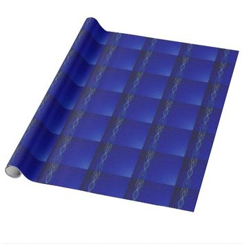 Dark Blue Lights Wrapping Paper