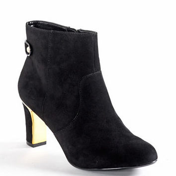 Anne Klein Sukey Suede Ankle Boots