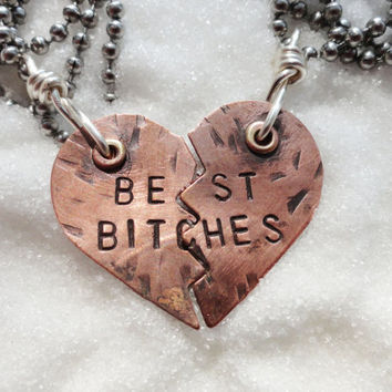 Necklace Best Bitches Copper by SugarandSoySauce
