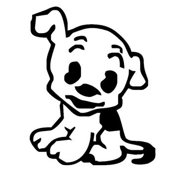 Funny Cute Puppy Dog JDM Car Stickers Windshield Decorative Die Cut Vinyl Decals Auto Styling Cool Graphic