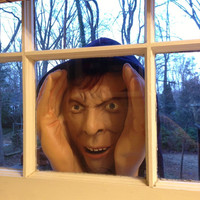 Halloween Decoration -Scary Peeper - Peeping Tom-The True-to-Life Window Prop