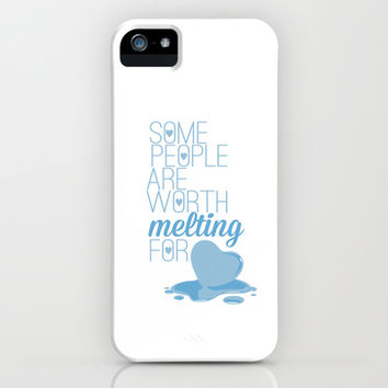 frozen.. some people are worth melting for... olaf funny quote iPhone & iPod Case by studiomarshallarts
