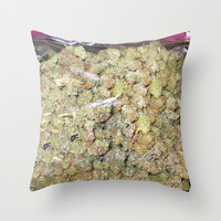 Wake and Bake 420 weed Throw Pillow by Kushcoast