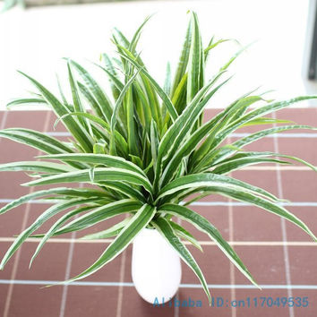1PCS Artificial Fake Plastic Green Leaves Grass Plant Home House Wedding Festival Decoration Gift F225