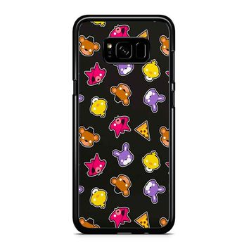 Fnaf Freddy S Faces Pattern Cute Kawaii Chibi Samsung Galaxy S8 Plus Case