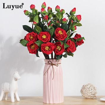 Luyue 10pcs Wildflower Simulation fake flowers creative indoor dining table ornaments decorated Artificial flowers wedding decor