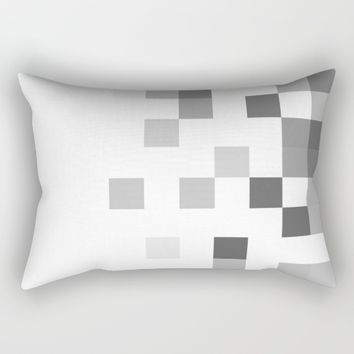 Gray Scale In Pixels  Rectangular Pillow by ARTbyJWP