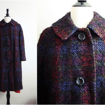 Vintage 50s Al Levy's Boucle Swing Coat M/L by PARASOLvintage