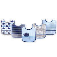 Luvable Friends PEVA 5-Pack Bib Set
