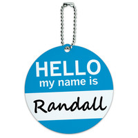 Randall Hello My Name Is Round ID Card Luggage Tag