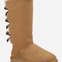 Ugg Bailey Bow Tall Womens Boots Chestnut  In Sizes