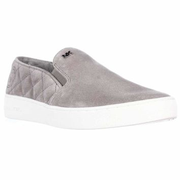 MICHAEL Michael Kors Keaton Quilted Slip-On Sneakers, Pearl Grey, 9.5 US