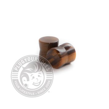 Tiger's Eye Stone Plugs - 8g-6g - CLEARANCE