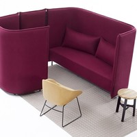 Sectional high-back sofa CLOUD PLAIN Cloud Collection by Naughtone