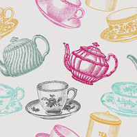 Removable Wallpaper - Tea Time