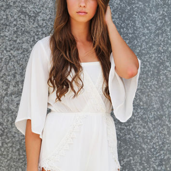 All Of You Romper {White}