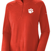 Clemson Tigers Women's Orange Columbia Glacial Fleece 1/2 Zip II Jacket