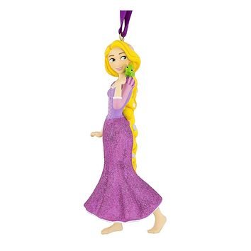 Disney Parks Rapunzel with Pascal 3D Glitter Christmas Ornament New with Tags