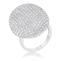 Karla 1.9 ct CZ Rhodium Round Statement Cocktail Ring
