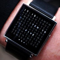 Qlocktwo Watch - $880 | The Gadget Flow