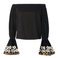 Juniper Off the Shoulder Black Top | Moda Operandi