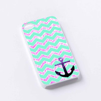 Chevron Anchor Sparkly iPhone 4/4S, 5/5S, 5C,6,6plus,and Samsung s3,s4,s5,s6