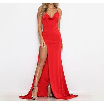 Cartaline Criss-Cross Back Maxi Dress