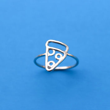 Sterling Silver Pizza Ring